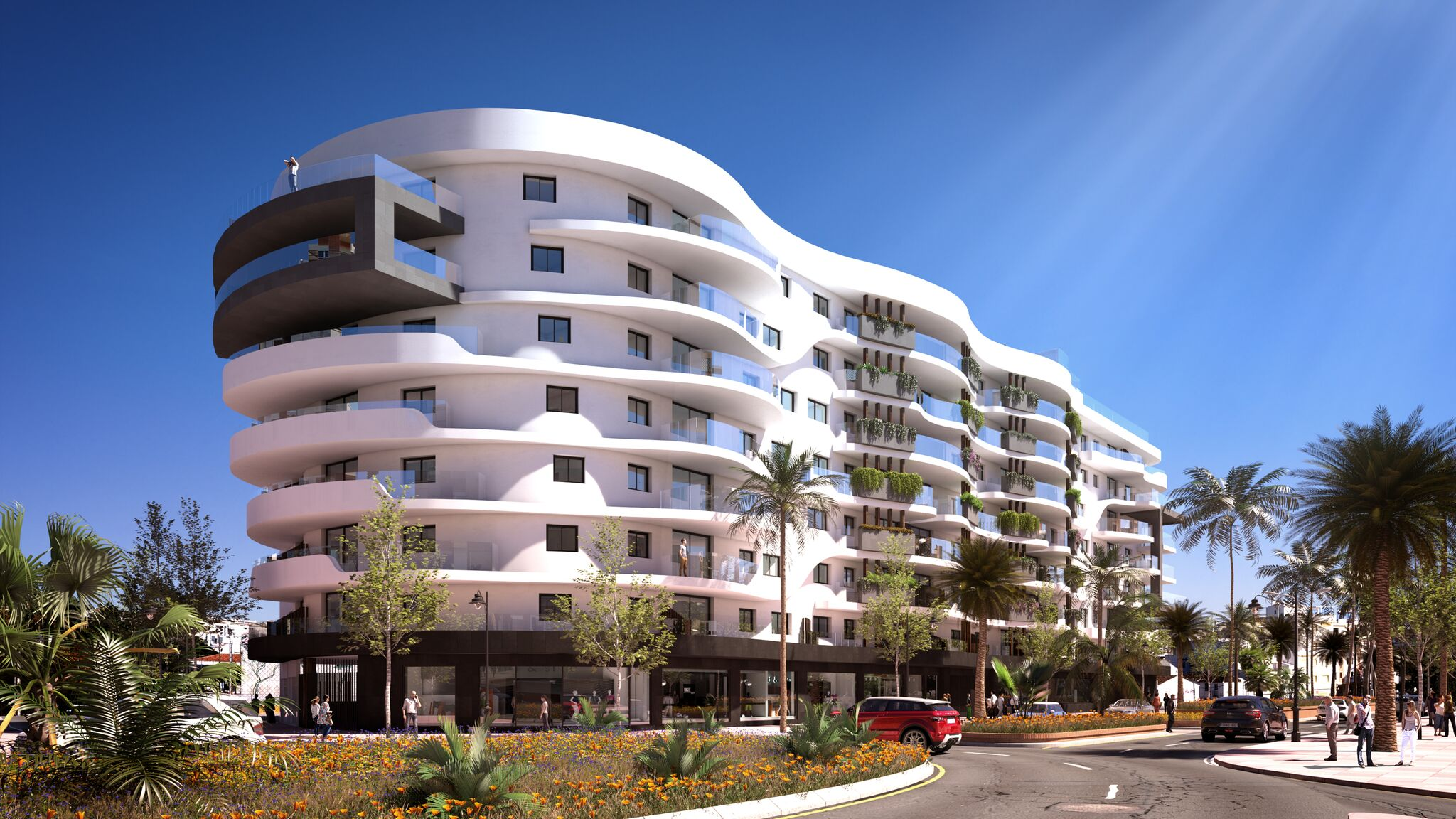 Spectacular luxury apartments for sale in the centre of Estepona